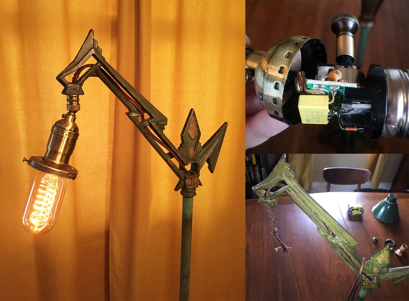 DIY fixed vintage lamp